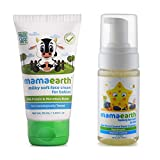 Mamaearth Milky Soft Natural Baby Face Cream for Babies 50mL änd Foaming Baby Face Wash for Kids with Aloe Vera and Coconut Based Cleansers, 120 ml