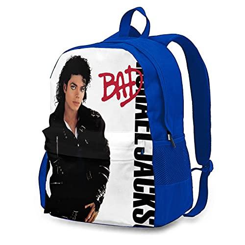 Michael Jackson - Mochilas para adultos, bolsas de ordenador portátiles de moda, bolsas de almacenamiento, bolsas de montañismo, mochilas multifuncionales de trabajo y de estudio.