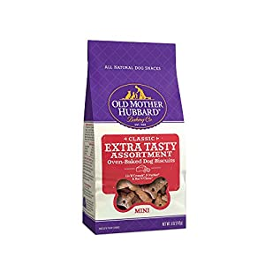 Old Mother Hubbard Classic Extra Tasty Assortment Biscuits Baked Dog Treats, Mini, 5 Ounce Bag