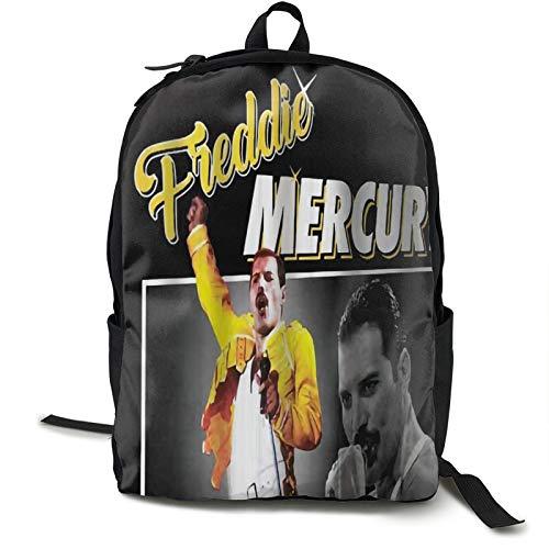 Queen Rock Band Freddie-Mercury, zaino da viaggio impermeabile, adatto per viaggi, palestra, scuola, shopping, yoga, escursionismo, spiaggia