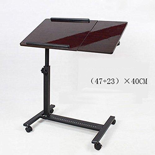 ZXL Uitneembare Laptop Tafel Sofa Slaapbank Tafel voor Laptop Stand met wielen, in hoogte verstelbaar (Kleur: A, Maat: zonder ventilator)