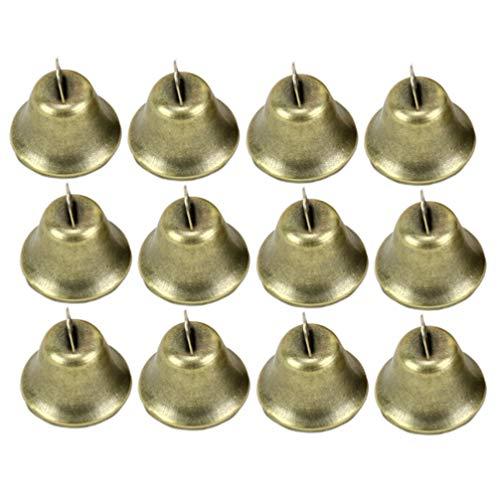 NUOBESTY 35 piezas campanas artesanales cascabeles mini campanas pequeñas campanas de viento doradas campanas campanas de hierro vintage campanas de viento artesanales de bricolaje haciendo