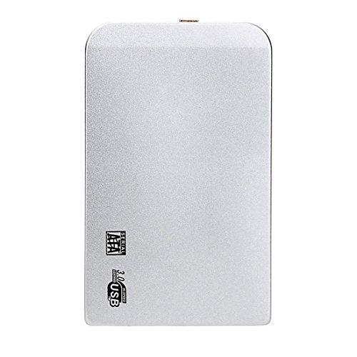 Tragbare Slim Case für SATA HDD High Speed USB 3.0 externes Gehäuse SATA HDD und SSD 2.5 Silberleinwand