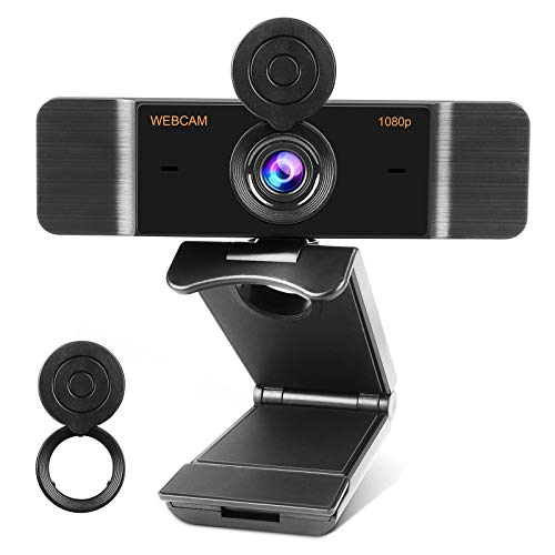 Full HD 1080p Webcam with Microphone, Streaming Webcam with Privacy Shutter for Video Calling, Online Classes, HD Light Correction, Works with Skype, Zoom, FaceTime, Hangouts, PC/Laptop