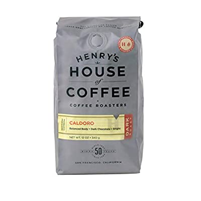 Henry's House Of Coffee | Caldoro Dark Roast | Whole Beans 12oz Bag