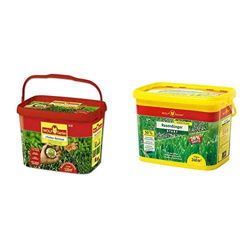 WOLF Garten Turbo-NACHSAAT 3826121 LR 120, ROT & tarterdünger LH 240, mehrfarbig