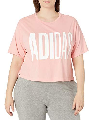 adidas Univ tee I 1 W Camiseta, Rosa Glory, 2X para Mujer