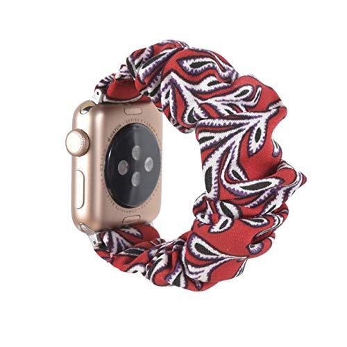 Para Apple Watch correa de banda elástica serie 5 4 3 2 correa correa elástica 38 mm 40 mm 42 mm 44 mm correa (para anillo de pulsera iwatch)