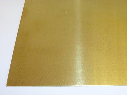 B&T Metall Messingblech 3,0 mm stark aus Ms63 (CuZn37), Oberfläche blank im Zuschnitt