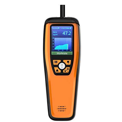 Moniteur qualité de l'air, Détecteur Formaldéhyde pour Particules PM10 PM2.5 CO2 HCHO Température Humidité Programmable Alarme sonore Affichage Facile d'étalonnage