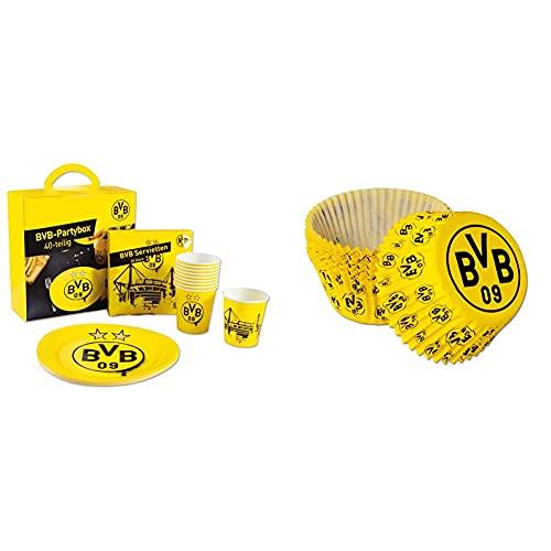 Borussia Dortmund BVB-Partybox (40-teilig) & BVB-Muffinförmchen (40 Stück)