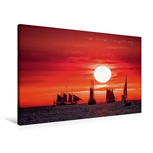 CALVENDO Cortavientos en el mar Báltico con luz de Noche, 90x60 cm