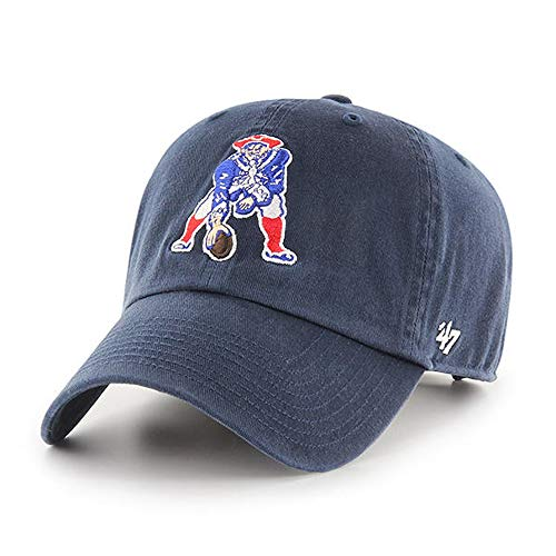 '47 New England Patriots Throwback Clean Up Adjustable Hat - Navy