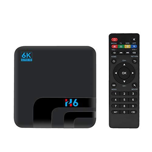 Festnight Decodificador STB Inteligente H6 6K WiFi Reproductor Multimedia Receptor de TV Receptor de TV de Red en Red