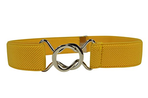Olata Elastischer Gürtel für Kinder 1-6 Jahre, voll einstellbar mit verschiebbar Schnalle. Gelb