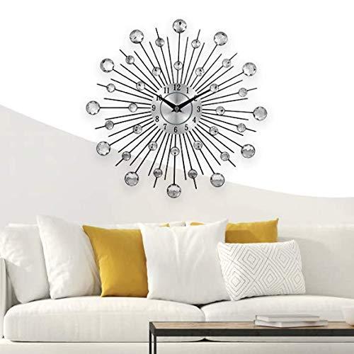 Reloj Pared Metalico y Cristal Grande 20 Pulgadas para Sala Oficina Hogar Cocina 50 centimetros de diametro