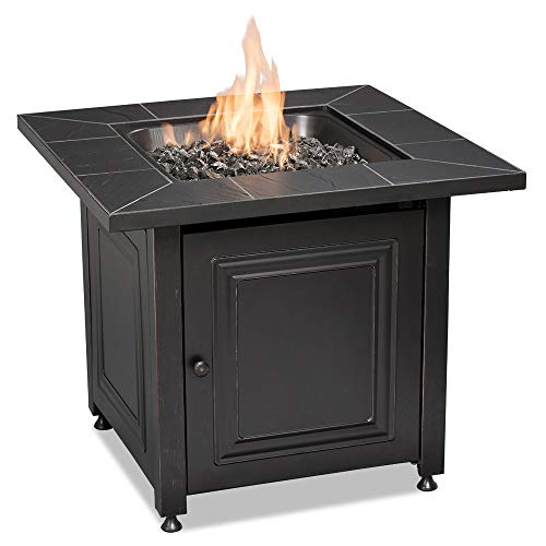 Endless Summer GAD15255SP Square LP Gas Outdoor, Oil Rubbed Bronze Fire Table, Black