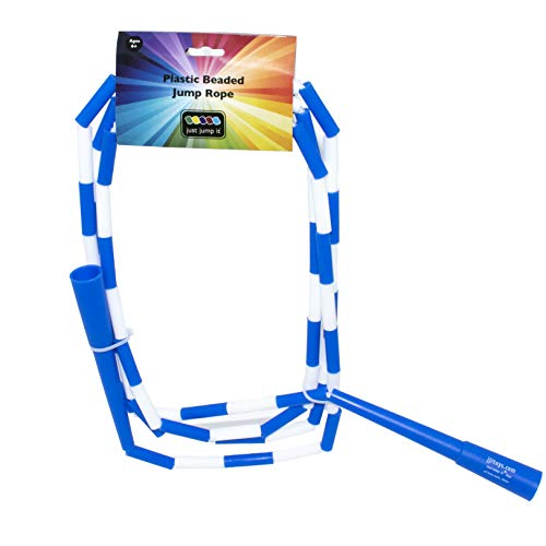 Squirrel Products Plastic Segmented School Style Jump Rope - 10' Blue