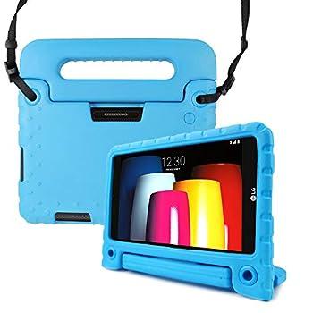 REGOKI Case for T-Mobile LG G Pad X2 8.0 Plus/Sprint LG G Pad F2 8.0 Shoulder Strap Lightweight Handle Cover fit LG GPad X2 8.0 Plus Model V530 / LG GPad F2 8.0 Model LK460 8-Inch Tablet  Blue