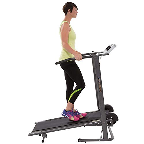 Fitness Reality TR3000 Maximum Weight Capacity Manual Treadmill with 'Pacer Control' & Heart Rate...