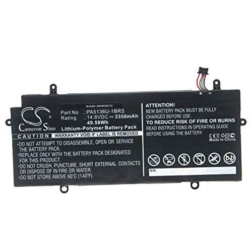 vhbw Batería Compatible con Toshiba Satellite Z30-A-1DJ, Z30-A-1E8, Z30-A-1E9, Z30-A-1J1, Z30-B-100 Notebook (3350mAh 14,8V polímero de Litio)