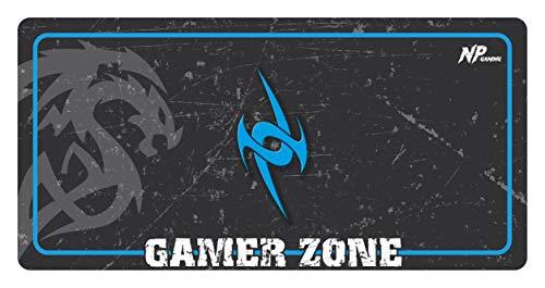 NivellPublicitari Alfombrilla Ratón Grande Alfombrilla Gaming Alfombrilla Gamer (800x400x2mm Azul) Máxima precisión Base y Superficie Texturizada Impermeable Antideslizante, Protector Escritorio.