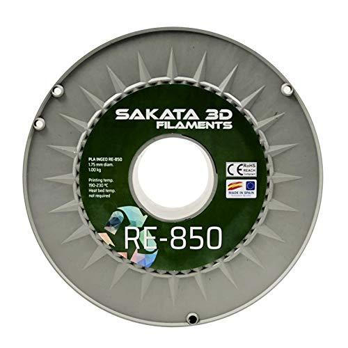 Filamento Rollo Bobina Sakata 3D PLA Ingeo 3D850 Reciclado RE-850 1.75 mm Impresora Impresión (Ideal para Pintar) Ecológico Alta Calidad