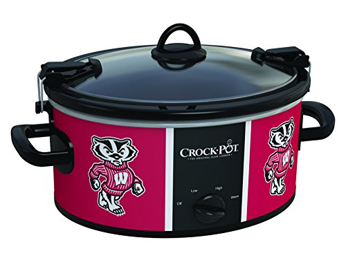 Wisconsin Badgers Collegiate Crock-Pot Cook & Carry Slow Cooker, 6 Quart