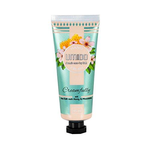 1x UMIDO Hand-Creme 45 ml Honig & Pfirsichblüte | Handlotion | Creme | Pflegecreme | Lotion | Hautpflege (1-HPF)