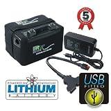 Powerhouse Golf Batterie au lithium 12V LiFePO4 pour chariot de golf 36trous et plus Avec port USB
