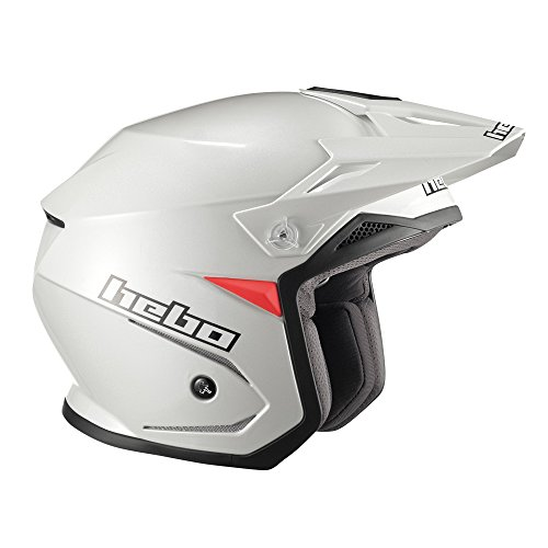 Hebo Trial Zone 5 Casque, Blanc, Taille M