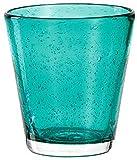 Leonardo Burano Laguna 034758 - Juego de 6 vasos pequeños (330 ml, hecho a mano, cristal de espuma turquesa)