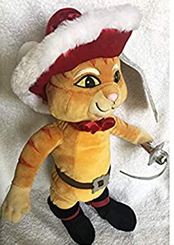 """Shrek puss en botas Navidad gato arranque suave felpa muñeca juguete 16"""" Nuevo etiquetado"""