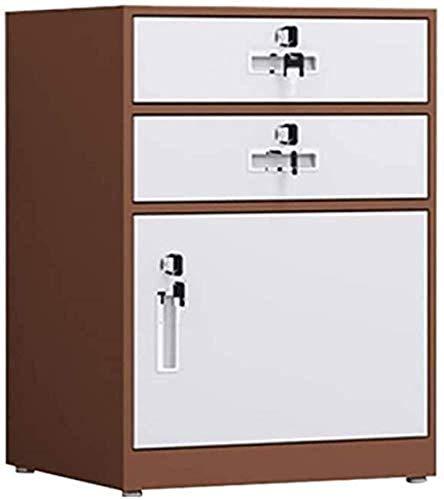 Gabinete de presentación, Magazine Archivo de bloqueo Gabinete de almacenamiento de oficina hecho en Lock Fire Prevention con 2 cajones y caja de almacenamiento de 1 puerta Caja de archivos Administra