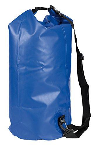 Idena 24001 - Seesack aus PVC, wasserdichte Tasche mit Tragegurt, 30 Liter, blau, ideal für Camping, Wassersportler und auf Reisen