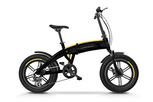 Scrambler Ducati Bike SCR-E Sport, Bicicletta elettrica a pedalata assistita con ruote fat, full suspension Unisex Adulto, nero e giallo, taglia unica