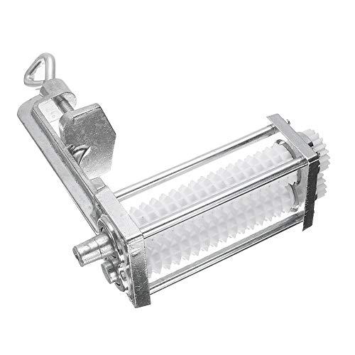 KOET - Ablandador de carne manual de alta resistencia, herramienta de aplanamiento manual de acero inoxidable con abrazadera de rodillo con cubierta protectora,