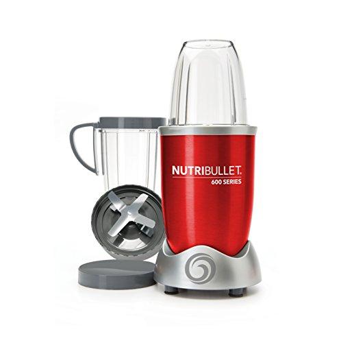 NutriBullet MAGICN Entsafter/Smoothie-Maker, Kunststoff, schwarz, 25,5x 14x 26cm 29,5 x 17 x 34 cm Rouge 600w