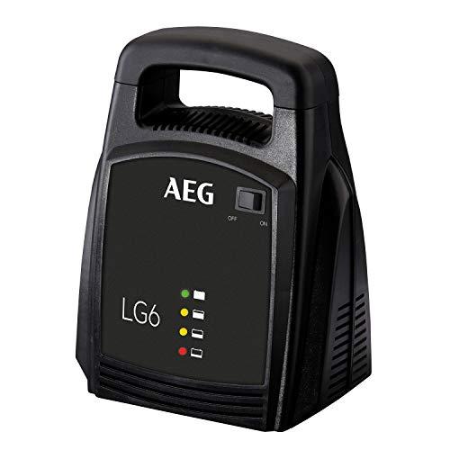 AEG Automotive 10269 - Cargador de batería para Coche LG 6, 12 V, 6 A, con indicador LED, terminales de batería aislados