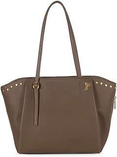 Baggit Women's Synthetic Tote Bag (Beige) (Cleaty)
