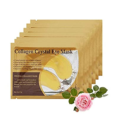 30 Pairs ROSOTENA Collagen Eye Mask,Gold crystal Gel Eyelid Patch Pad Moisturiser for Under Eye Wrinkles, Remove Eyes Bags, Dark Circles, Hydrating, Puffy from Creativee