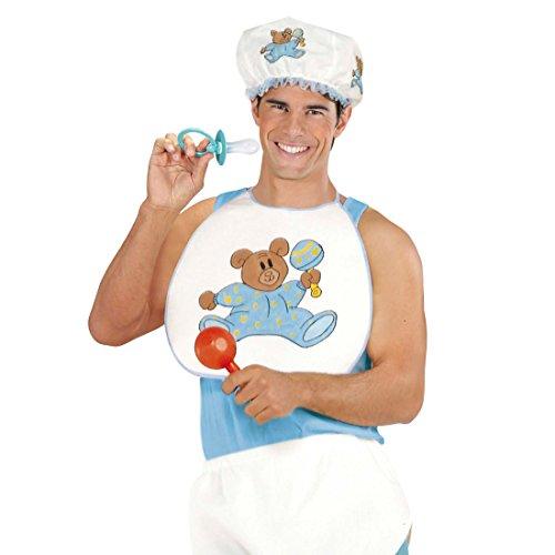 NET TOYS Baby Kostüm Verkleidung für Erwachsene BLAU Fasching Babykostüm Karneval Kleinkind Outfit Junge Junggesellenabschied