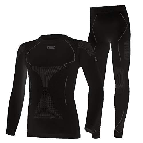 Prosske Ropa interior funcional para niños Thermo Xtreme 2.0, conjunto de ropa interior térmica de...