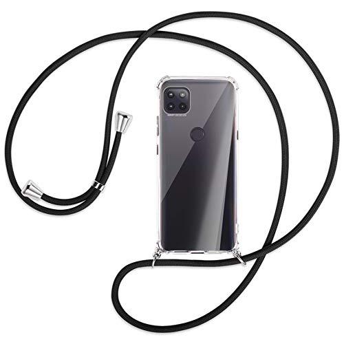 mtb more energy Collar Smartphone para Motorola Moto G 5G (6.7'') - Negro - Funda Protectora ponible - Carcasa Anti Shock con Cuerda Correa