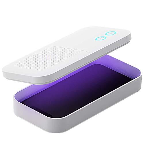 MECO ELEVERDE Sterilizzatore UV per Cellulare UVC+UVA 3 Luci Disinfezione Portatile Sterilizzazione per Mobile con Purificazione dell'aria Protezione dell'interruttore del Sensore Gravità per Maschere