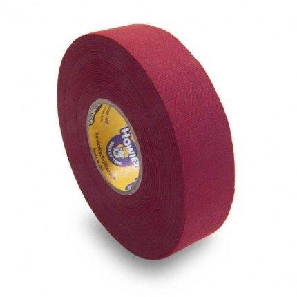 Schlägertape Profi Cloth Hockey Tape 25mm f. Eishockey farbig Maroon (dunkelrot), 23 m