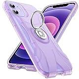 Redroad Funda Antigolpes para iPhone 12, Funda iPhone 12 Pro, Protección Carcasa iPhone 12 3D Amplificación Estéreo con Soporte de Anillo Magnético Giro de 360°, Morado