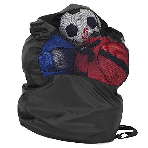 TAKE FANS Bolsa de almacenamiento portátil de malla con cordón de malla para voleibol, fútbol y voleibol