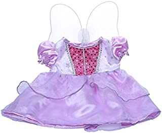 """Purple Cinderella Dress w/ Wings Outfit Fits Most 8""""-10"""" Webkinz, Shining Star and 8""""-10"""" Make Your Own Stuffed"""