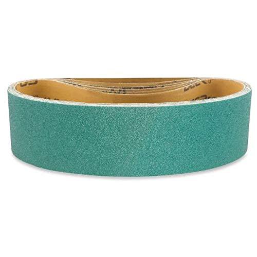Red Label Abrasives 3 X 21 Inch 120 Grit Metal Grinding Zirconia Sanding Belts, 4 Pack